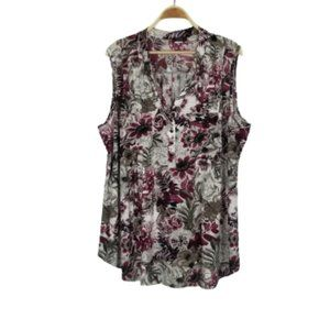 Cocomo Woman Stretchy Floral Printed Tunic Top